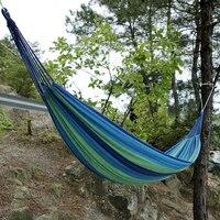 Outdoor Tuin Hangmat Draagbare Hangen Bed Travel Camping Slapen Hangmat Schommel Canvas Streep 280*100 Cm