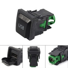 USB Switch Adapter Stopcontact Opladen ABS Voor Volkswagen VW GOLF MK6 BORA RCD310 12 V(China)