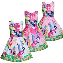 2019 New Summer kids My Little Baby Girl Dress Vestidos Dress Princess Costume for girls pony Clothes Children Party Dresses samgami baby new summer cute dress little girls dress my pony spring girl short sleeve dresses my girls princess for little pony