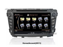 For Hyundai Verna 2011~2013 – Car GPS Navigation System + Radio TV DVD iPod BT 3G WIFI HD Screen Multimedia System