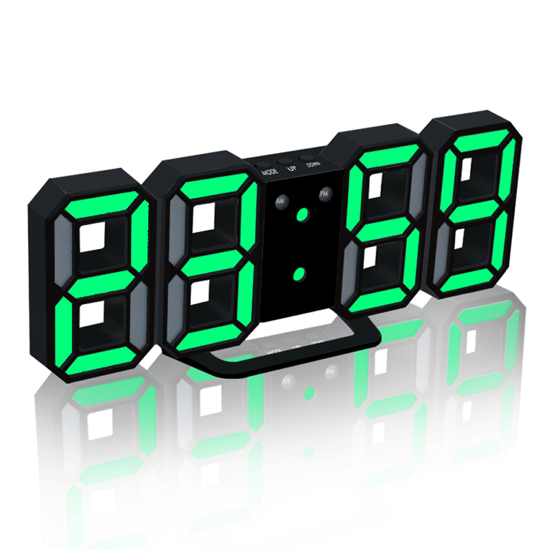 1 Set LED Wall Clock Can Adjust the LED Brightness Automatically in Night Digital Alarm Clock Upgrade Version With Backlight