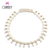 ORINERY Hot Sale Pearl Belly Dance Belt 2017 Spring New Designer Waist Belts Women Luxury Brand