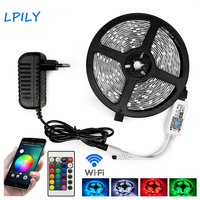 WiFi Controle RGB LED Strip Waterdicht 5050 Fita Diode LED Tape Decoratie LED Lint Licht met WiFi Controller en Adapter