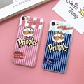 Fashion tide brand snacks Potato chips Design soft tpu Back Skin Case Cover for apple iPhone 6 6s 7 Plus hot new