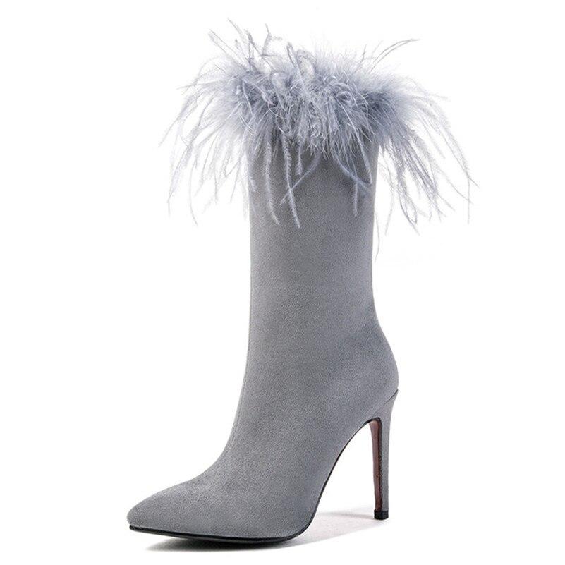 Hiver Longues Automne Conasco Femmes gris Nouveau Femme Chevalier Chaussures Pour Haute Danse Mode Martin Noce Noir De Bottes Talons nwvmO8N0