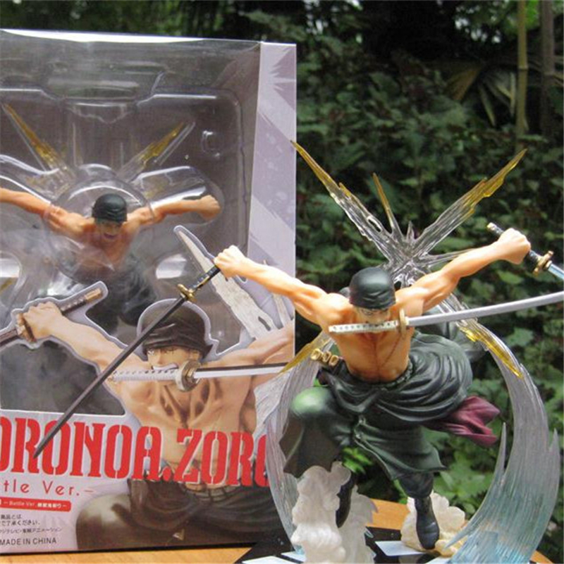1pc/lot Anime One Piece Roronoa Zoro Figures High Quality Action Figures PVC Toys Doll Model Collection Kids Toys 17cm one piece action figure roronoa zoro led light figuarts zero model toy 200mm pvc toy one piece anime zoro figurine diorama