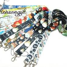 Hensongift мальчик Тоторо значок ремешок для ключей японского аниме ремешки на шею для мобильного телефона мультфильм брелки прекрасный подарок для детей