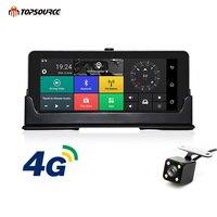 TOPSOURCE 4 г автомобиля gps навигации 6,86 дюймов Android 5,1 Bluetooth Встроенная память 16 ГБ Оперативная память 1 ГБ HD 1080 P видеорегистраторы для автомобиле