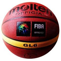 Envío Gratis fundida GL6 baloncesto, tamaño 6 mujer baloncesto, gratis con bomba de bola, bolsa de red y pin de inflado 1 unids/lote