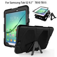 Zırh Kapak Samsung Galaxy Tab Için S2 9.7 Kılıf T815 T810 T813N T819N Kickstand Tablet Darbeye Dayanıklı Ağır Standı Ile kabuk