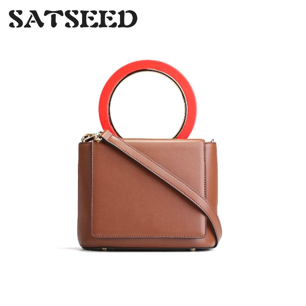 2019 sac Messenger pour femme en cuir petit sac carré Vintage en cuir épaule des femmes Mini anneau Split sac à main en cuir jaune