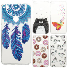 EKONE Phone case for huawei p8 lite 2017 case Silicon Feather Flamingo Panda crystal for coque huawei p8 lite 2017 back cover