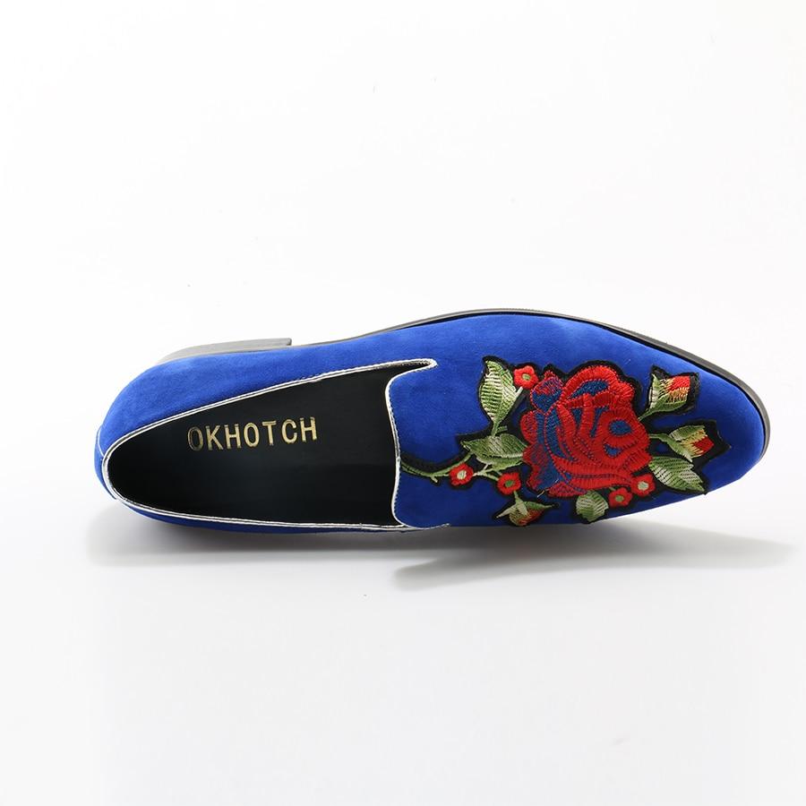 Suede Red Cuero Pisos De Flower Flower Conducción blue Mocasines Okhotcn Blue God En Suave Casual Deslizamiento Floral black Bordado Zapatos Hombres Calidad Flower Buena 0qAxnEwTX