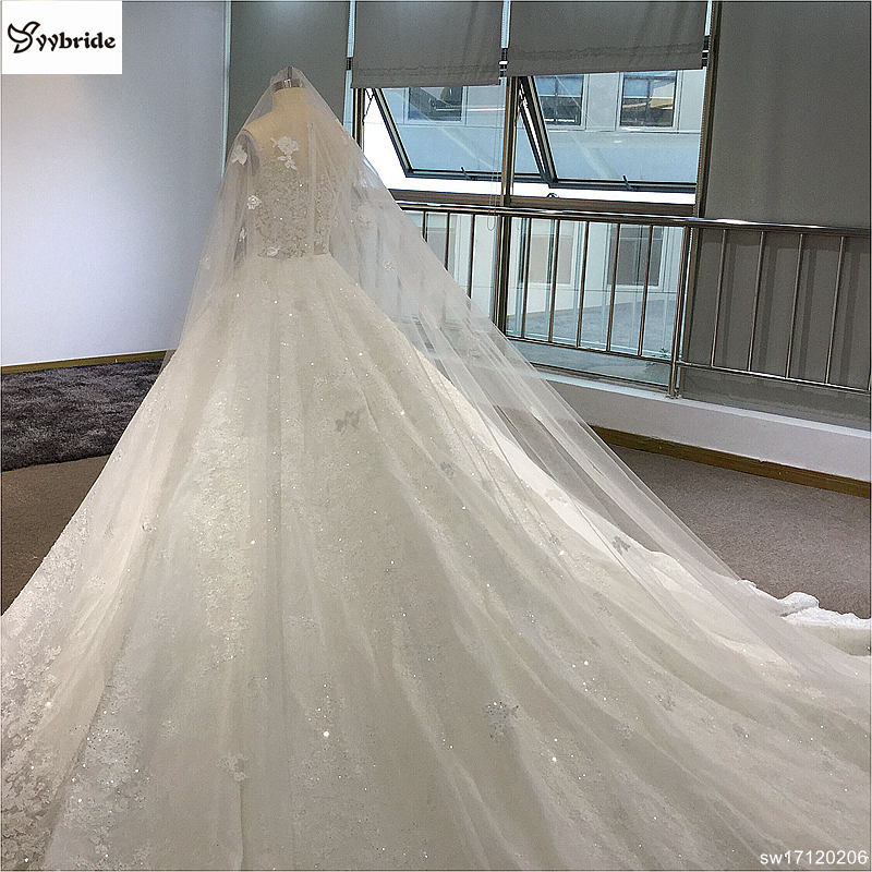 sw17120206-6 surmount custom made royal train wedding dresses 2018 ball gown long sleeves robe de soiree long robe de mariage wedding dresses Surmount Custom Made Royal Train Wedding Dresses 2018 Ball Gown Long Sleeves robe de soiree Long robe de mariage Wedding dresses HTB1miKmgf2H8KJjy1zkq6xr7pXaX