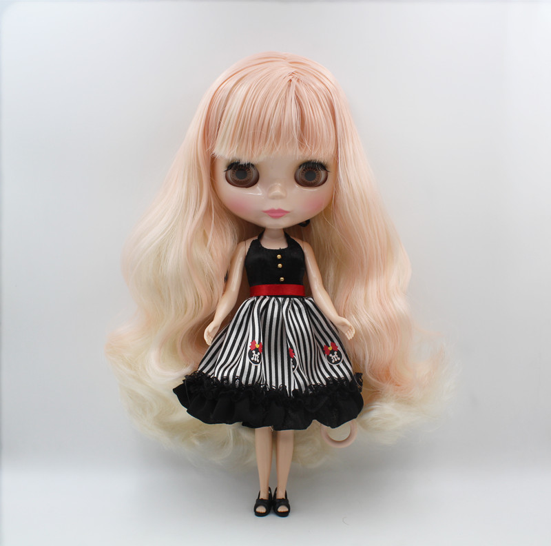 Blygirl,Blyth doll,Pink, white bangs, regular body, 7 joints, 1/6 dolls, 30cm, can be replacedBlygirl,Blyth doll,Pink, white bangs, regular body, 7 joints, 1/6 dolls, 30cm, can be replaced