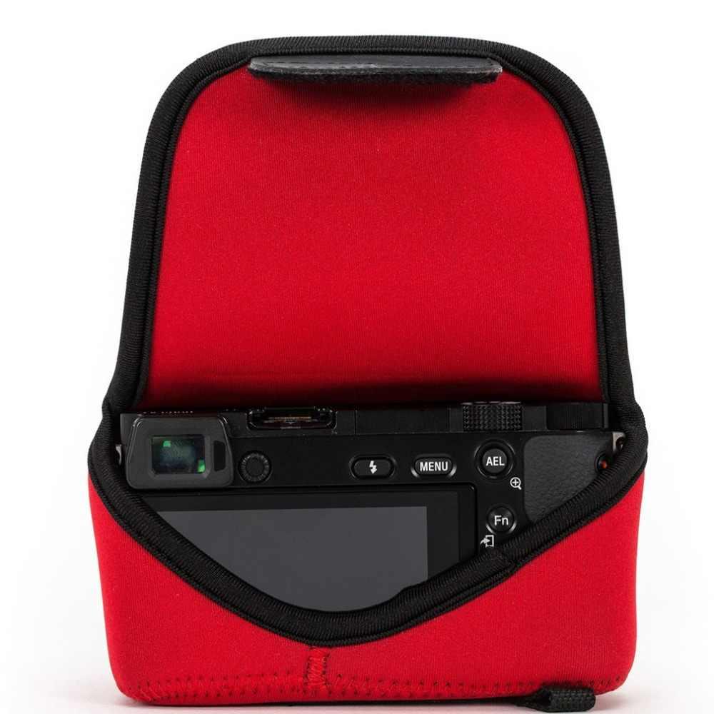Brown Neoprene Camera Pouch Case Protective Camera Bag compatible with Olympus PEN E-PL10 E-PL9 E-PL8 E-PL7 14-42mm Lens