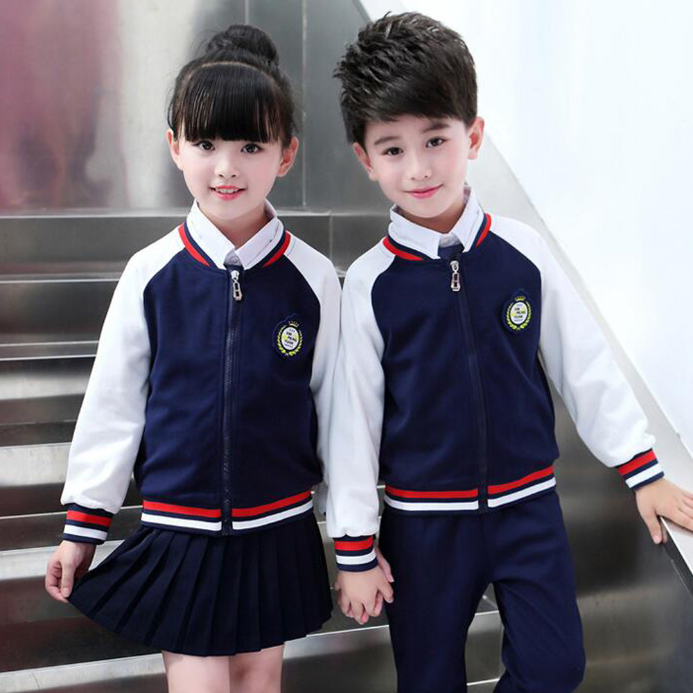 Enfants adultes coton coréen japonais étudiant école uniformes filles garçons enfants automne Sports de plein air baseball survêtement tenues