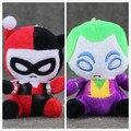 10cm DC Comics The Flash Batman Harley Quinn The Joker Plush Toys keychain keyring Soft Stuffed Doll pendant