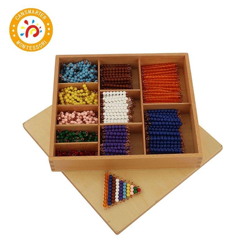 Jouet de bébé Montessori mathématiques perle Decanomial avec boîte apprendre arithmétique éducation de la petite enfance formation préscolaire apprentissage
