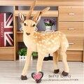 Free shipping big emulate sika deer plush animal stuffed toy gift friend kids children kids boys birthday party gifts zoo angel