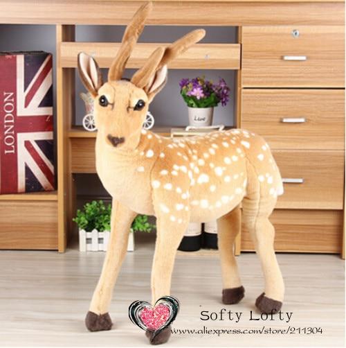 Free Shipping Big Emulate Sika Deer Plush Animal Stuffed Toy Gift