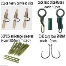 225pcs Carp Fishing accessories with carp fishing lures hooks carp tackles