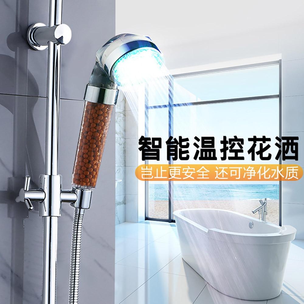 ORENBO LED Shower Head Anion Shower SPA Shower Head Colorful ...