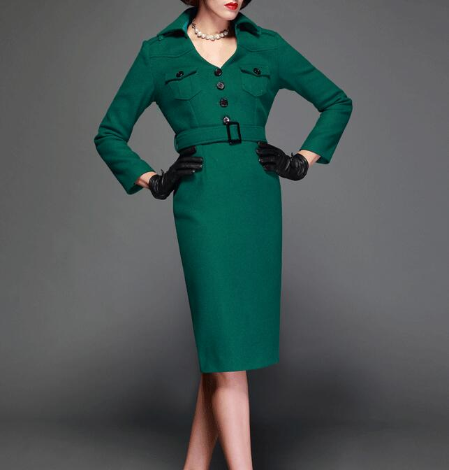 Green cashmere coat – Novelties of modern fashion photo blog
