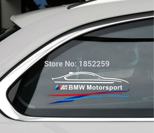 New style power by m motorsports sports stickers car fuel tank window decals