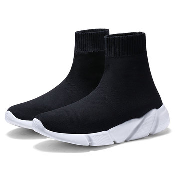 MWY Breathable Ankle Boot Women Socks Shoes Female Sneakers Casual Elasticity Wedge Platform Shoes zapatillas Mujer Soft Sole 8