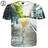 Mikeal Men S Funny T Shirt Print Winter Zipper 3 D Short Sleeve Hip Hop