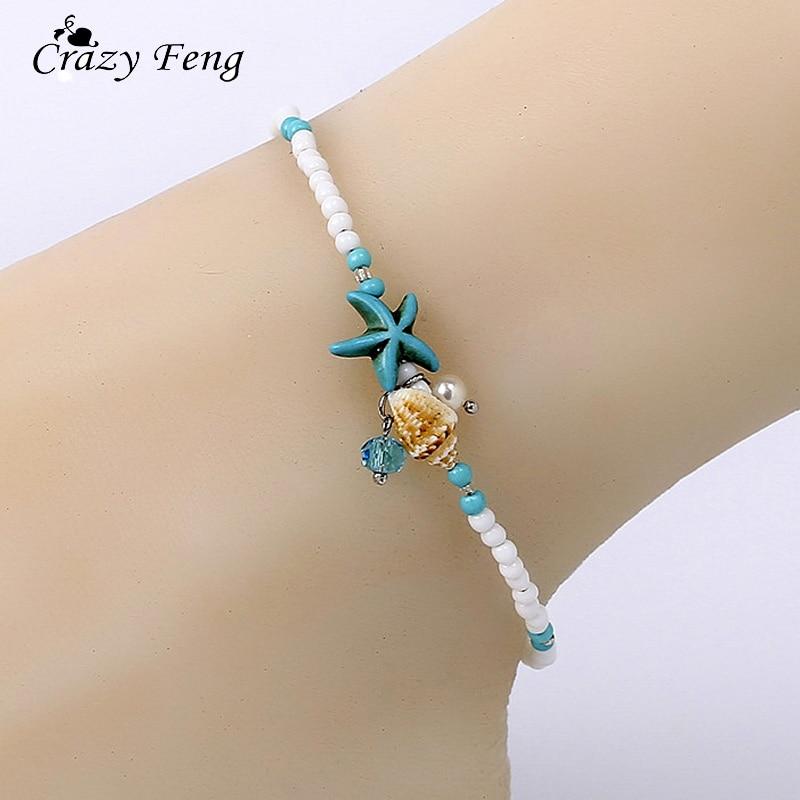 2018 Shell Beads Starfish Anklets for Women Beach Anklet Leg Bracelet Handmade Bohemian Foot Chain Boho Jewelry Sandals Gift