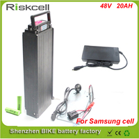 1000W Electric Bicycle Battery 48v 20ah Lithium Ion Battery For Electric Bike With Power Lights And