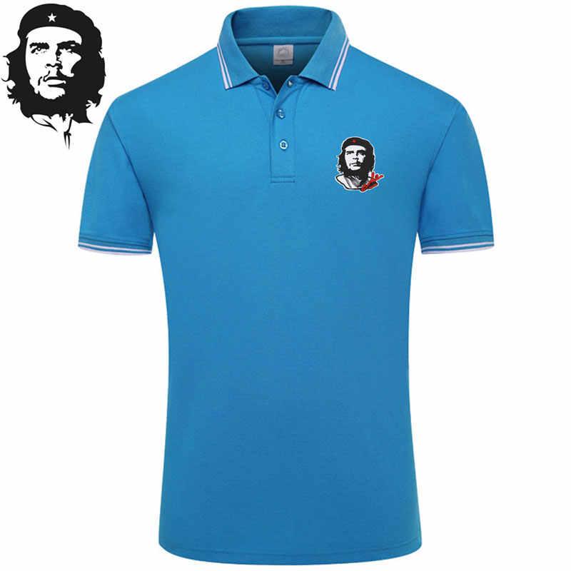 ¡Novedad de 2020! Polo informal para hombre con bordado Che Guevara, estilo inglés, Camisa lisa de algodón de manga corta para hombre, talla grande XXXL