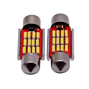 Image 5 - 100 pièces/lot, éclairage dôme, éclairage intérieur de voiture, ampoules c5w, plaque dimmatriculation 12v, Led 36mm 39mm 41mm 12SMD 4014 pièces/lot