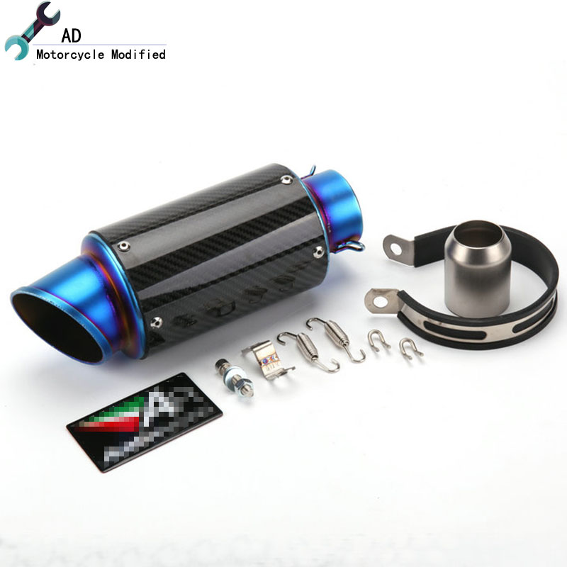 Universal 51mm Motorcycle Exhaust Muffler For yamaha Pipe Carbon Fiber Escap R1 FZ1 MT 07 XJ6 MT09 YZFR125 MT07 Bike 51 MM ! injection molding bodywork fairings set for yamaha r6 2008 2014 blue white black full fairing kit yzf r6 08 09 14 zb77
