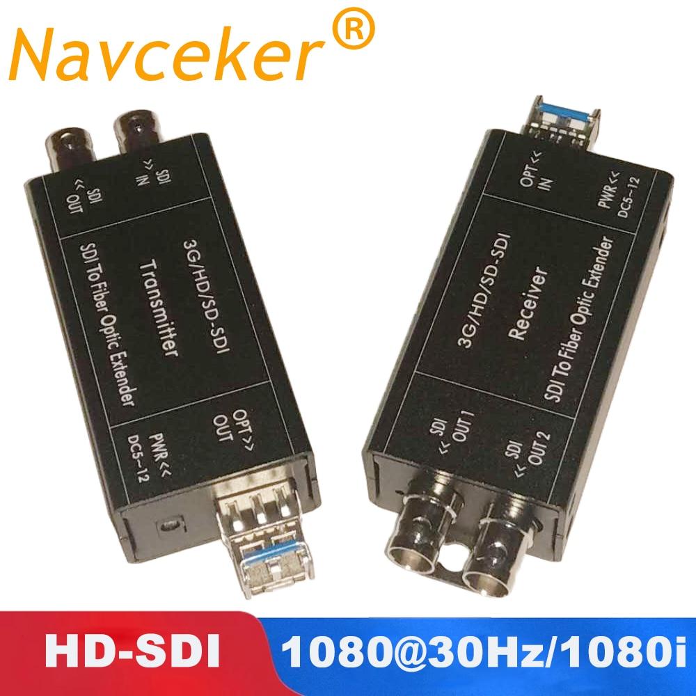 2019 Best 20km HD SDI Fiber Converter 1080i BNC Coaxial Signal Optic Converter 1080 30Hz HD