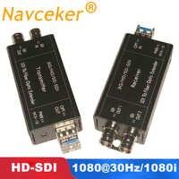 2019 melhor conversor ótico 1080 30 hz HD-SDI da fibra do sinal coaxial do conversor 1080i bnc da fibra do sdi de hd 20km conversor ótico da fibra sobre sfp