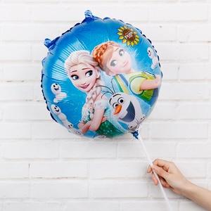 Image 5 - 60pcs 18inch Elsa Anna foil balloons Frozen Queen Princess ballon birthday party decoration baby shower supplies child toys