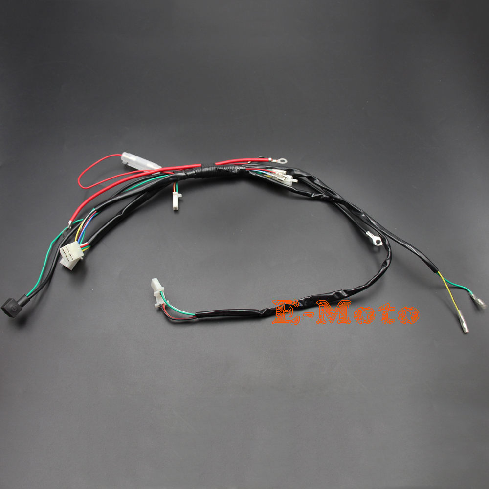 small resolution of electric start wiring harness loom 50cc 110cc 125cc pit quad dirt bike atv buggy new e moto in motorbike ingition from automobiles motorcycles on
