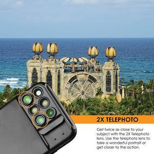 Image 4 - 새로운 iphone xs max 듀얼 카메라 렌즈 6 in 1 fisheye 와이드 앵글 매크로 렌즈 iphone xs xr xs max 망원경 줌 렌즈