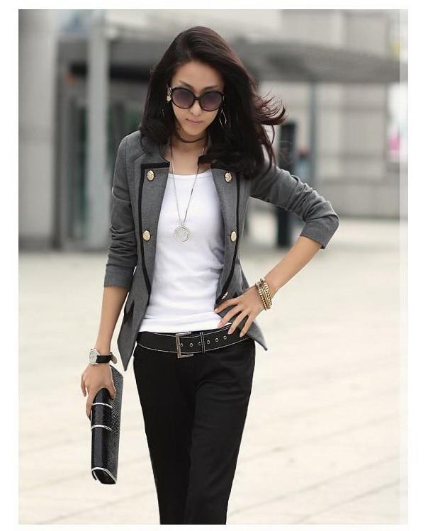 Black military style jacket ladies