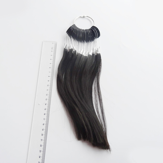 30pcs/lot 100% human virgin hair color ring  for human hair extensions and salon hair Dyeing sample, can be dye any color
