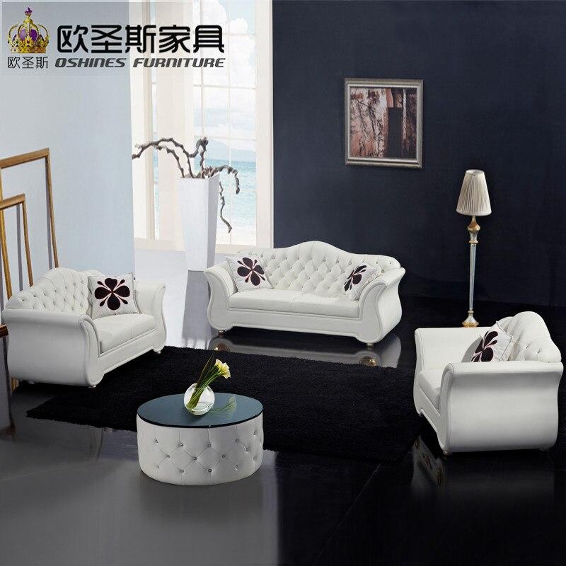 China Fabrik Verkauf Euro Hotel Reine Weiss Chesterfield Mbel Wohnzimmer Neue Modell Rindsleder Pvc Leder