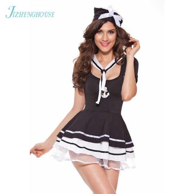 JIZHENGHOUSE Sexy Sailor Costume Woman Role Playing Navy Costume Female Performance Sexy Sailor clothing  sc 1 st  AliExpress.com & JIZHENGHOUSE Sexy Sailor Costume Woman Role Playing Navy Costume ...