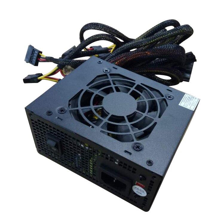 Puissance nominale 400W pour 110v et 220v mini boîtier micro boîtier pc alimentation mini psu avec 6pin 8pin pour graphique