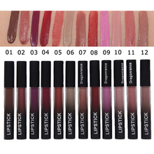 Brand Makeup Matte Lipstick Waterproof Glitter liquid Lip Gloss Long Lasting Black Lipstick Korean Cosmetics Beauty Baby Lips