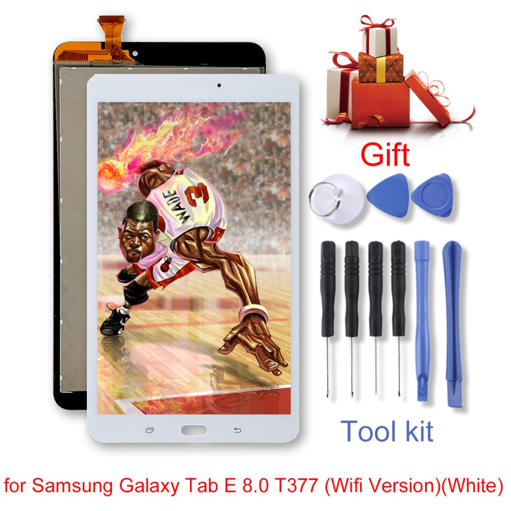 New for Samsung Galaxy Tab E 8.0 T377(Wifi Version)/ (3G Version) LCD Screen and Digitizer Full Assembly Replacement repair partNew for Samsung Galaxy Tab E 8.0 T377(Wifi Version)/ (3G Version) LCD Screen and Digitizer Full Assembly Replacement repair part