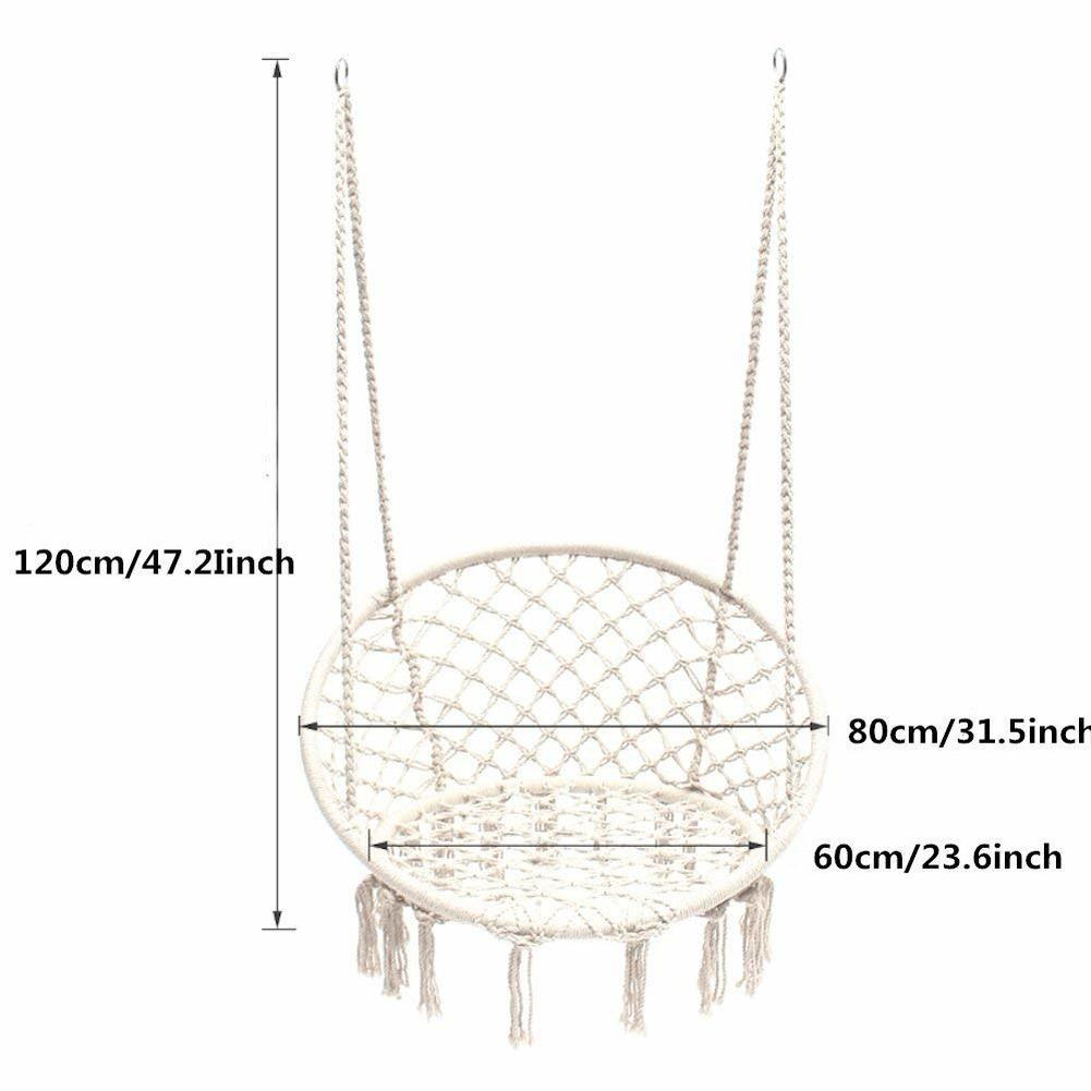 Relax And Unwind With A Hanging Macrame Hammock Swing Chair.Complements Any  Setting For Cozy Resting Spot