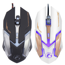 Wired Gaming Mouse for LOL Dota 2 6 Button LED Optical Cable Computer Opto-electronic Mouse Gamer For PC Laptop Desktop